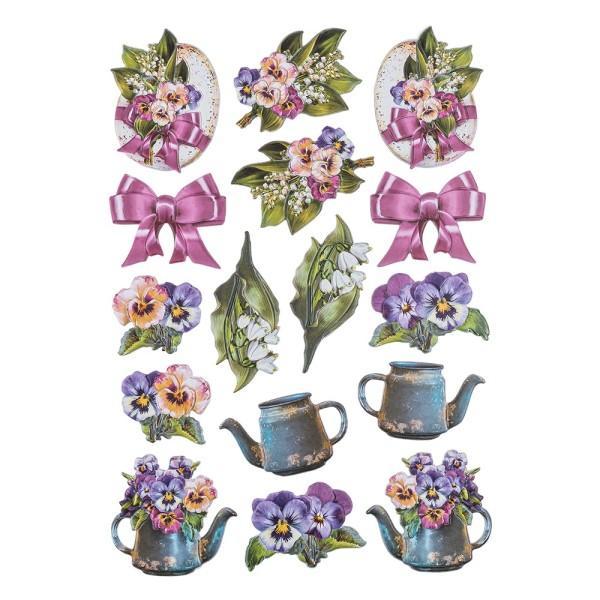3-D Relief-Sticker, Ostergrüße 2, Design 2, 21cm x 30cm, verschiedene Größen, selbstklebend