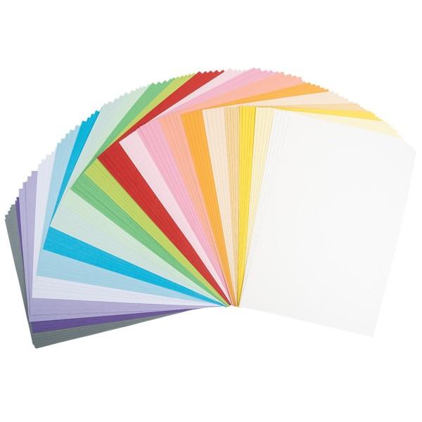 Tonkarton, DIN A4, 220g/m², pastell, verschiedene Farben, 100 Bogen