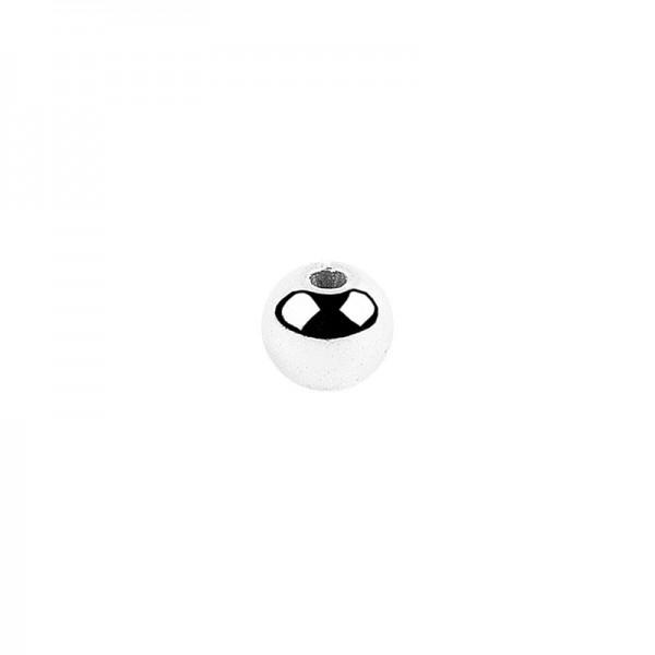 Perlen, Ø 4mm, silber, 500 Stück