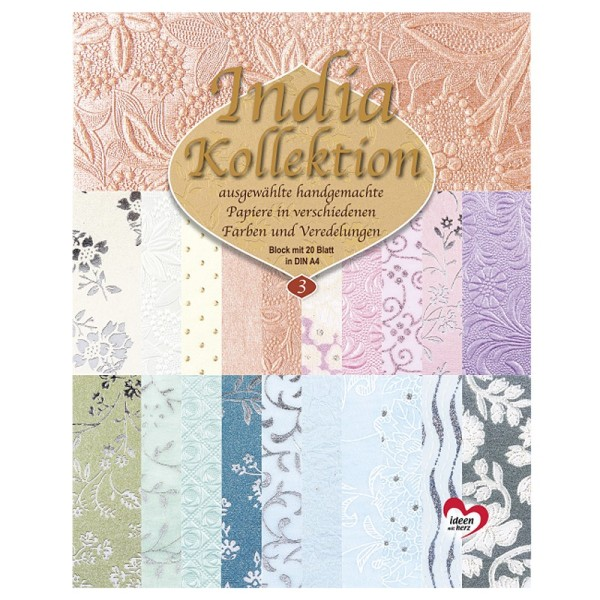 India Kollektion, DIN A4, Block mit 20 Blatt, Sortierung 3