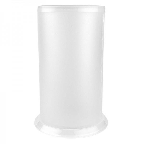 Tisch-Laternen, Ø 10,4cm, 18cm hoch, transparent/weiß, 3 Stück