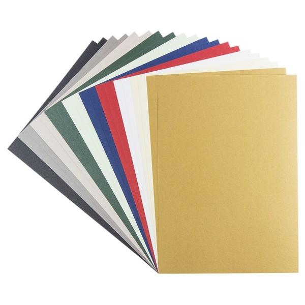 Effekt-Karton, Perlmutt, DIN A4, 250 g/m², 10 verschiedene Farben, 20 Bogen