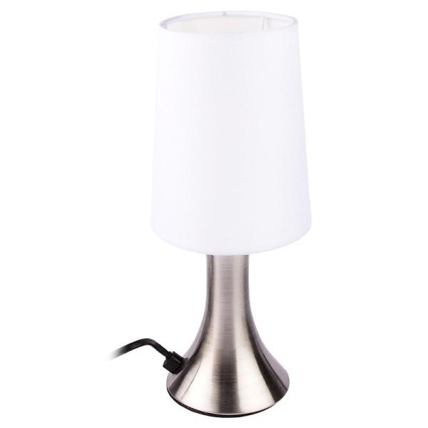 Tischleuchte mit Stoff-Lampenschirm & Touch, 29cm hoch, 12,5cm Ø