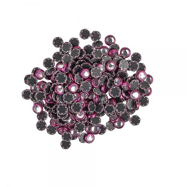Hot-Fix Glas-Kristalle zum Aufbügeln, Ø 4mm, violett, 200 Stück