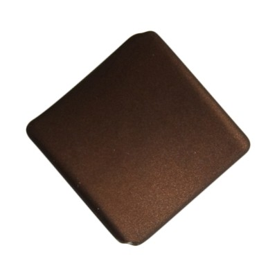 Soft-Touch-Perle, gewölbte Raute, 2,8 cm, 10 Stück, braun