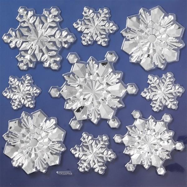 Spiegel-Relief-Sticker, Winter 2, 17,5 x 17,5 cm