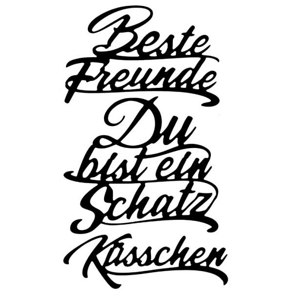 Stanzschablonen, Schriften, Freundschaft 1, 3 Stück