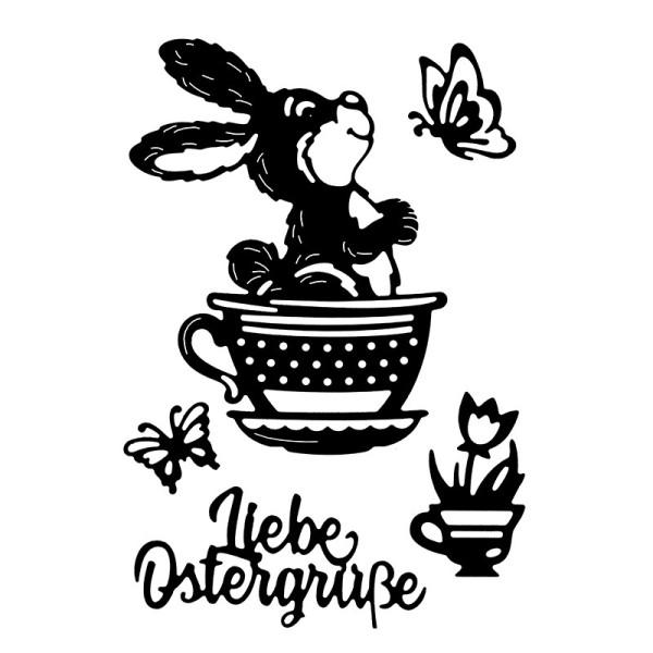 Stanzschablonen,Liebe Ostergrüße, 5 Stück