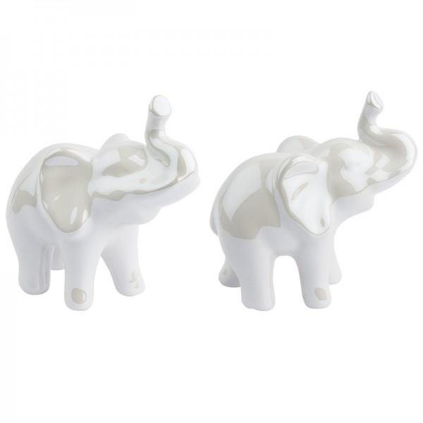 Deko-Figur, Elefant, 9cm hoch, stehend, 2 Stück