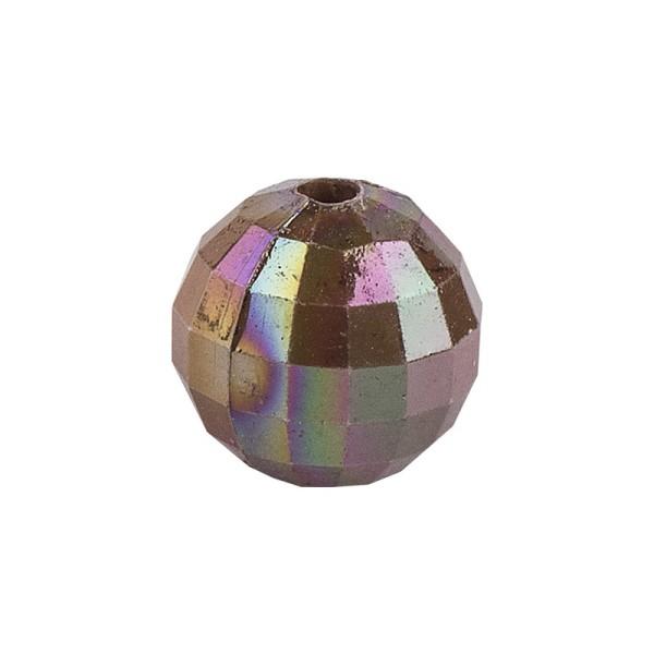 Perlen, facettiert, Ø 8mm, taupe-irisierend, 100 Stk.