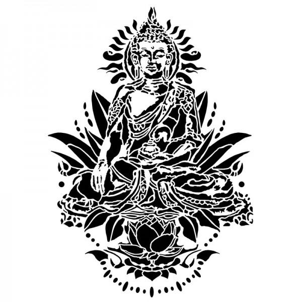 Laser-Kunststoff-Schablone, DIN A4, Buddha
