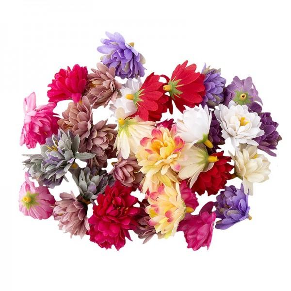 Deko-Blüten Chrysanthemen, Ø 3cm, 14g, verschiedene Farben