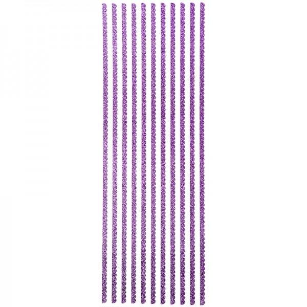 "Glitzer-Bordüren ""Anna"", selbstklebend, 10cm x 30cm, violett"