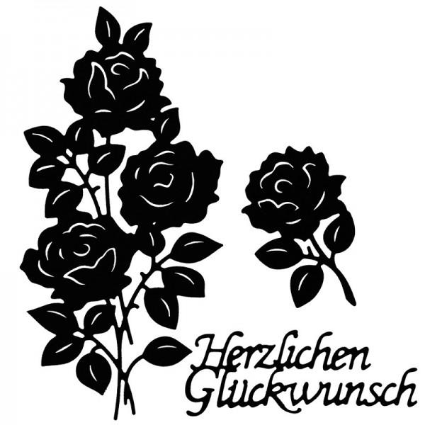 Stanzschablonen, Rosenvielfalt, 3 Stück