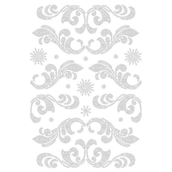 Bügelstrass-Design, DIN A4, klar, Ornamente 4