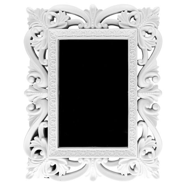 Relief-Wechselrahmen, Design 4, weiß, 17,8cm x 22,5cm, für Fotos 10cm x 15cm