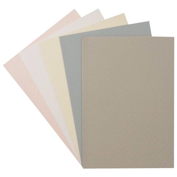"10er Grußkarten-Set, ""Batik"", B6, 5 Farben"