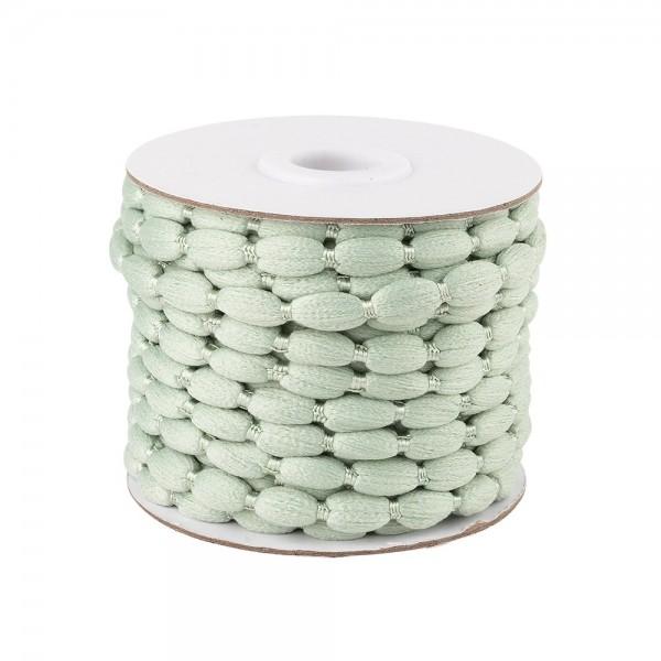 Pompon-Band, Ø 1cm, 10m, auf Rolle, pastellgrün