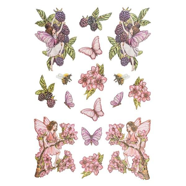 3-D Relief-Sticker, Elfenparadies 1, verschiedene Größen, selbstklebend