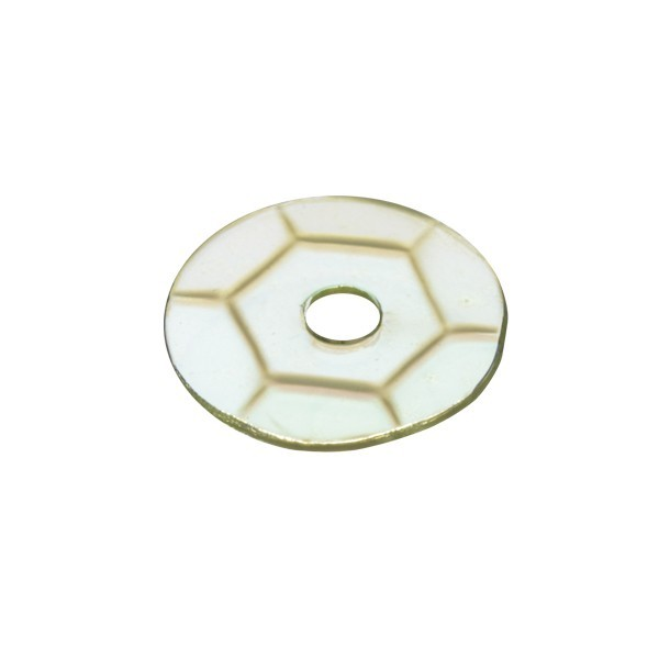 Pailletten, transparent, irisierend, 15 g, Ø6 mm, grüngelb
