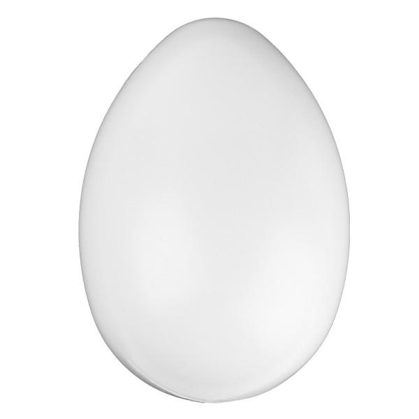 Kunststoff-Ei mit Loch, 10 cm, Ø 7,5cm, weiß
