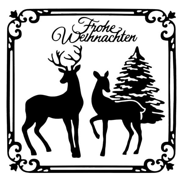 Stanzschablonen, Frohe Weihnachten 4, 4 Stück