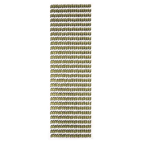 Glitzerstein-Bordüren, selbstklebend, gewölbte Ellipse, olivgrün