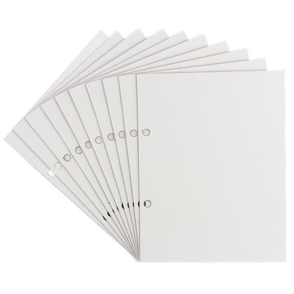 Einlegekarton, 16,2cm x 21cm, weiß, 1000 g/m², einseitig gelocht, 10 Stück