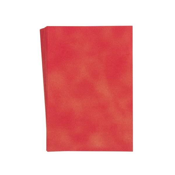 "Faltpapiere ""Nova 5"", 10x15cm, 50 Stück, rot-gold"