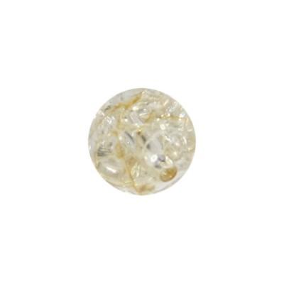 Perle, Krakelieroptik, Ø1 cm, bernstein, 10 Stück