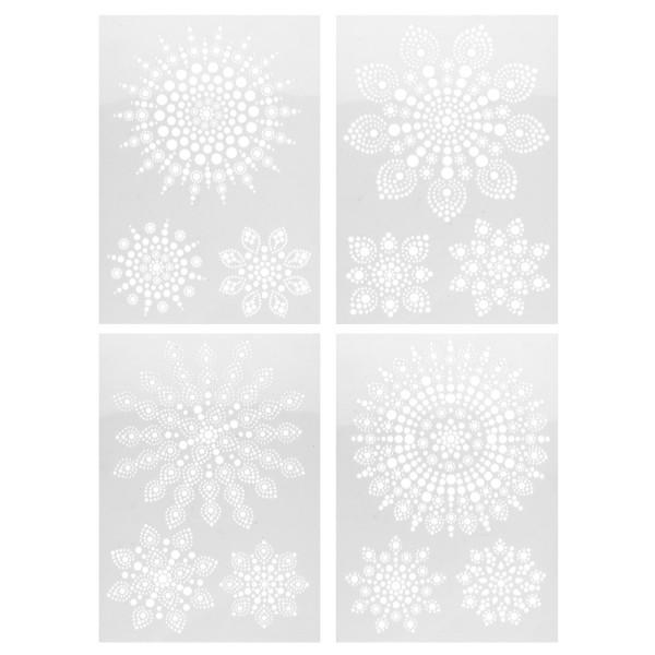 Design-Schablonen Easy Dotting 2, DIN A4, verschiedene Designs, Lochgröße: 1-10 mm, 4 Stück