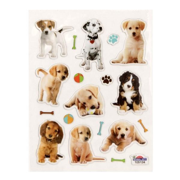 Mini-Sticker, Hunde, 10 x 7,5 cm