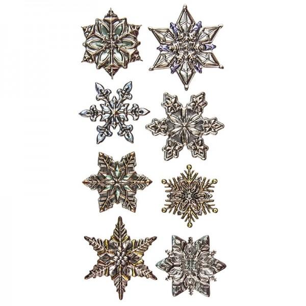 Relief-Sticker Weihnachten, Eiskristalle 1, 17,5cm x 9cm