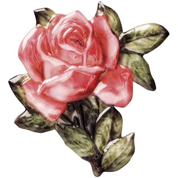 "Wachsornament ""Blüten de luxe"" 10, farbig, geprägt, 6-7cm"