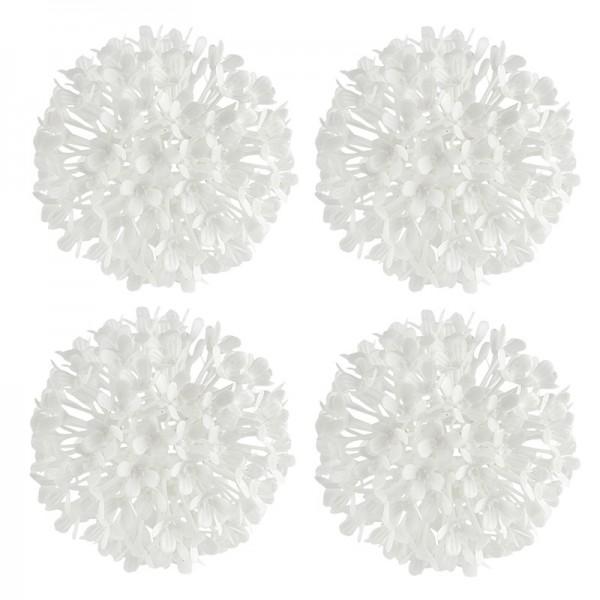 Blütenkugeln, Ø 8,5cm, weiß, 4 Stück
