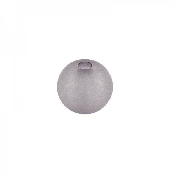 Perlen, gefrostet, Ø 8mm, 100 Stück, grau