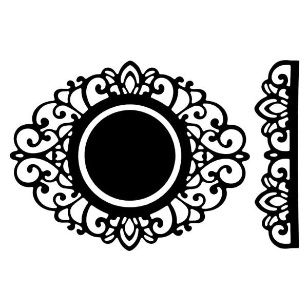 Präge-& Stanzschablonen, Zierdeckchen & Bordüre 1, 3 Stück