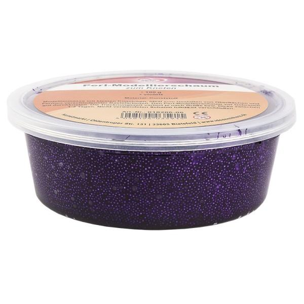Perl-Modellierschaum zum Kneten, 100g, violett