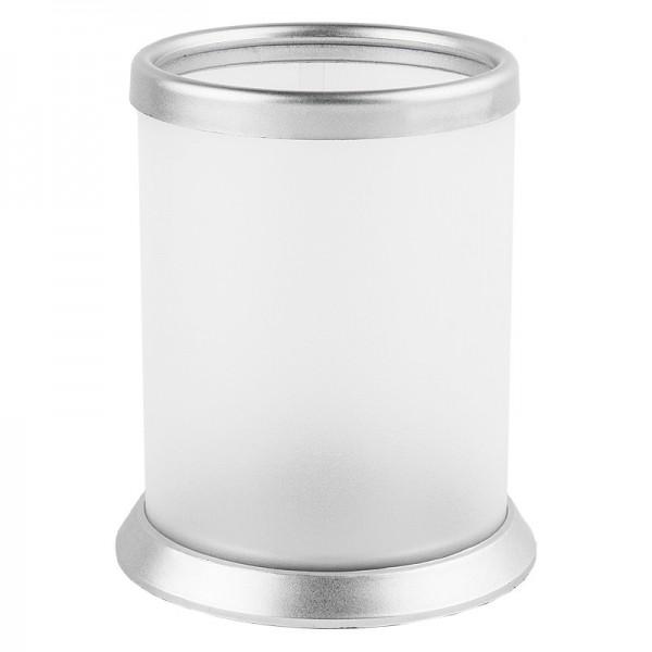 Tisch-Laternen, Ø 7,9cm, 10,3cm hoch, weiß/silber, 5 Stück