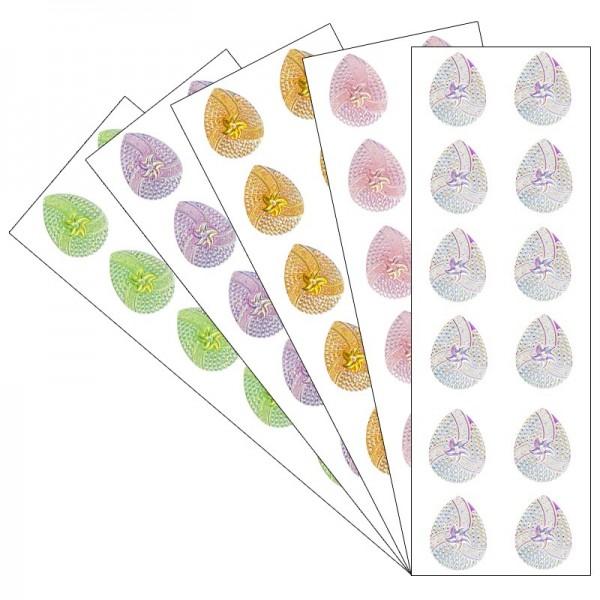 Kristallkunst, Schmuckstein Tropfen 2, 10cm x 30cm, selbsklebend, verschiedene Farben, 5 Stück
