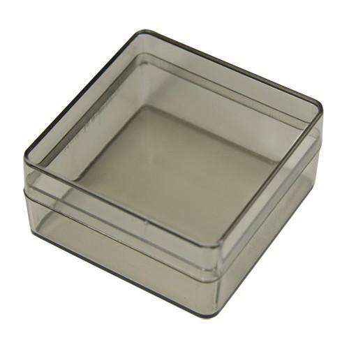Acryl-Viereck-Dosen, 5,9 x 5,9 x 3 cm, 2 Stück, grau