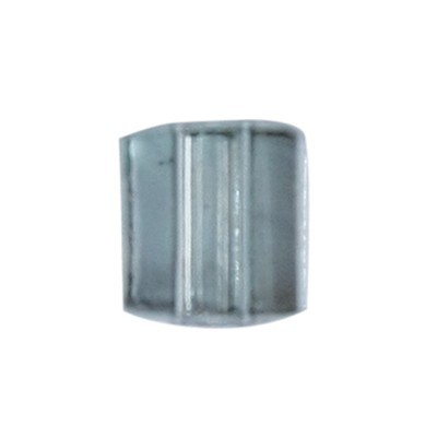 Würfel-Perlen, transparent, 5mm, anthrazit, 100 Stück