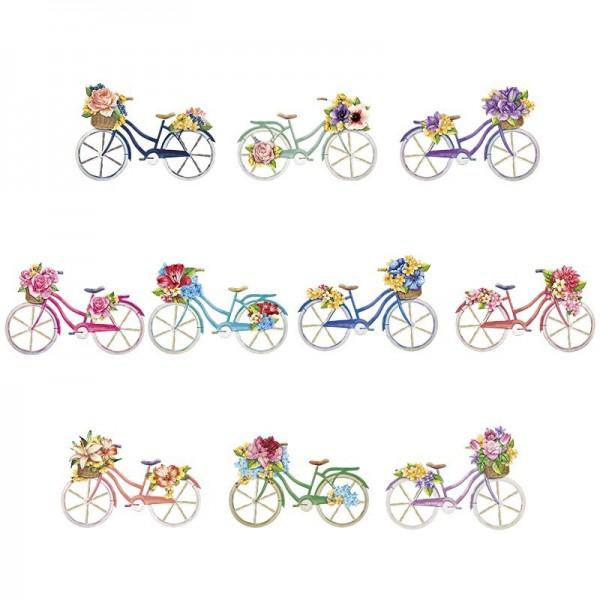 3-D Motive, Fahrräder, 9-13,5cm, 10 Motive