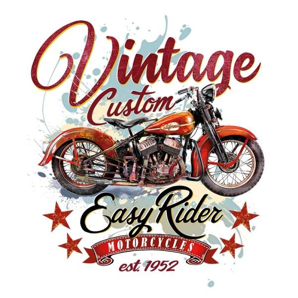 Color Bügeltransfer, DIN A4, Vintage-Motorrad