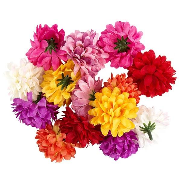 "Deko-Blüten ""Dahlie 2"", Ø 5cm, verschiedene Farben, 14 Stück"