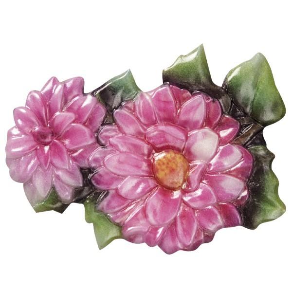 Wachsornament Blütezeit 10, farbig, geprägt, 8cm