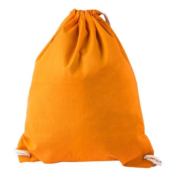 Turnbeutel aus Baumwolle, 37cm x 44cm, mandarine