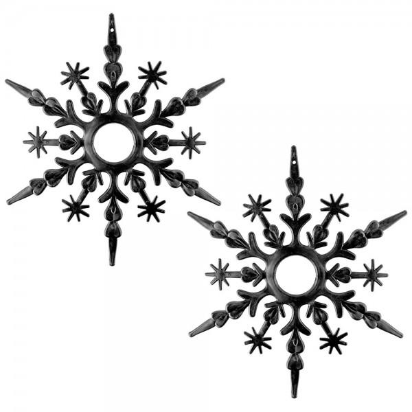 Deko-Eiskristalle, Rohlinge, Ø 30cm x 0,5cm, 2 Stück