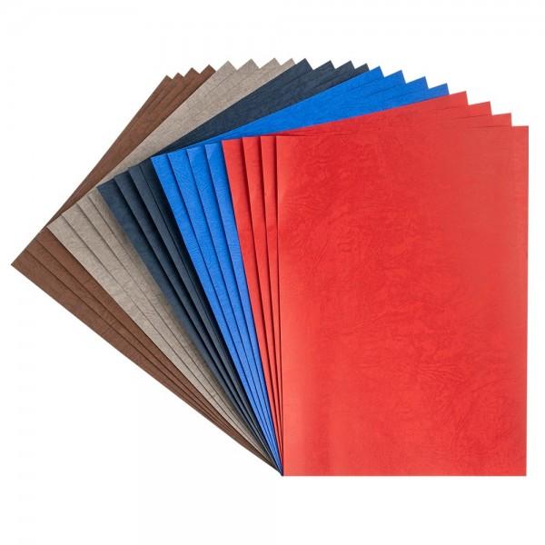 Papier, Lederoptik, DIN A4, 120 g/m², 5 Farben, 20 Bogen