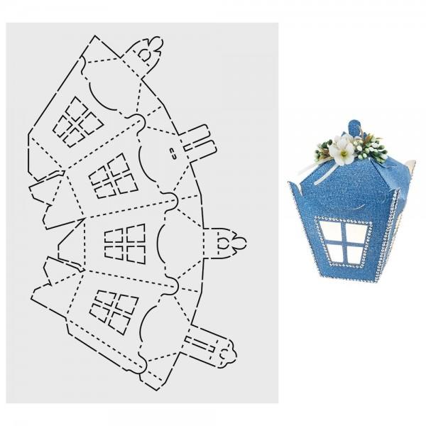 """Design-Schablone """"Laternchen-Box"""", DIN A3"""